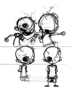 Character study by Skottie Young
