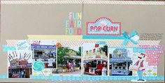 Fun Fair Food - double page layout - 5 photos