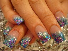 Shorter, at moons instead of tips May Nails, Aycrlic Nails, Glitter Nails, Hair And Nails, Duck Nails, Nail Polishes, Toe Nail Designs, Nail Polish Designs, Kids Nail Polish