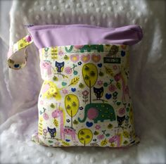 Owl Purple Wet Bag by RosalieJanesCreation on Etsy, $10.00