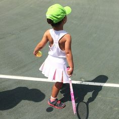 Pin for Later: Jessica, Busy, Tori, and More Shared the Sweetest Snaps of Their Tots This Week! Tennis, Anyone? Arabella Kushner hits the court in style.