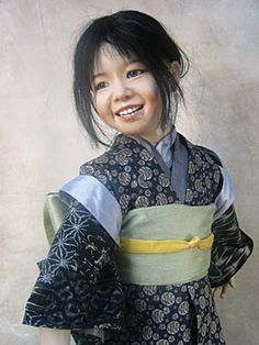 Smile for Me - OOAK wax over porcelain doll by Susan Krey - amazing face!