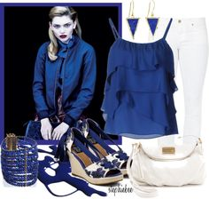 """""""Blue"""" by stephiebees ❤ liked on Polyvore"""