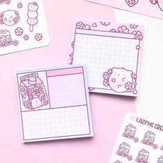 Sakura Cats Memo Pad – LaznyeCreaShop Cherry Blossom, Cats, Handmade, Gatos, Hand Made, Cat, Kitty, Cherry Blossoms, Handarbeit