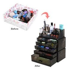 This cute little lipstick organizer stores 24 of your favorite
