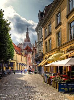 Bruges, Belgium. The streets really are cobbled and not a place for high heels!