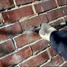 Repointing Brick | This Old House Article on how to repoint pre-1930s brick houses.