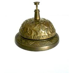 Vintage Hotel Desk Bell ❤ liked on Polyvore featuring home, home decor, fillers, vintage home accessories, brass home decor and vintage home decor