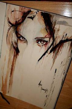 Watercolour painting, painting & drawing, watercolours, white space, go Painting Inspiration, Art Inspo, Desenho Pop Art, Drawn Art, Wow Art, Painting & Drawing, Watercolour Painting, Watercolor Eyes, Creative Art