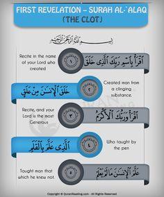 First Revelation – Surah Al-`Alaq (The Clot) #islam