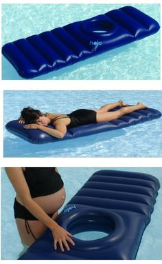 The Maternity Lilo with a Hole  This is my favorite way to lay so I really need this!!