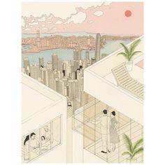 Hong Kong skyline✨  .  .  #tbt #harrietleemerrion #heartartist #heartartists #illustration #illustratorsoninstagram #hongkong #china
