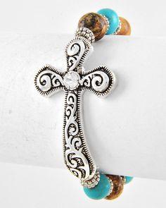 Cross Stretch Bracelet only $12