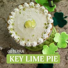 I can't wait to try this delicious Key Lime Pie with doTERRA essential oils!
