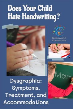 Does Your Child Hate Handwriting - Dysgraphia_ Symptoms, Treatment, and Accommodations #mosswoodconnections #parenting #dysgraphia #handwriting #finemotor #learningdisability Kids Writing, Writing Activities, Writing Skills, Parenting Articles, Good Parenting, Dysgraphia Symptoms, Savant Syndrome, Typing Skills, Fine Motor Activities For Kids