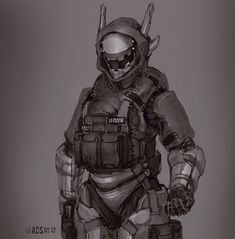 she-dreamt-she-was-a-bulldozer: Stealth Entry by *Shimmering-Sword Future Soldier, Futuristic Armour, Futuristic Art, Armor Concept, Concept Art, Character Concept, Character Art, Character Inspiration, Design Inspiration