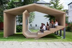 The People's Cinema, Pavillon III, The Object, Design © Erika Hock. Outdoor Stage, Outdoor Cinema, Outdoor Theater, Landscape Architecture, Architecture Design, Home Cinemas, Urban Furniture, Urban Design, Backyard