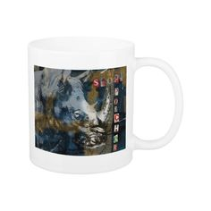 Stop Rhino Poachers Wildlife Conservation Art Coffee Mug Sumatran Rhino, Rhinoceros, Wildlife Conservation, Coffee Mugs, Design, Art, Art Background, Rhinos, Coffee Cups