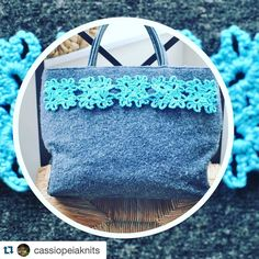 #Repost @cassiopeiaknits with @repostapp.  #WIP  Working on an #upcycling project for Thursday's #ReFashion event in Oxford: Bargain bag from @helenanddouglashouse charity shop on Cowley Road embellished with a bright aqua blue crochet border. Yarn used is #louisaharding #Jesse purchased locally from @veganyarnstore  #sustainability #oxford #cowleyroad #crochet #crochetersofinstagram #knitting #knitstagram #knittersofinstagram #inspiration #veganyarn #vegancrochet #veganyarnstore #vegan by…