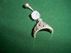 crowned princess  belly button ring by sindys on Etsy, $12.00