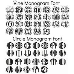 Circle Monogram Font Free Download Circle monogram font free