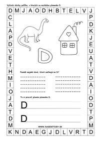 Spoznávame písmenká - Aktivity pre deti, pracovné listy, online testy a iné