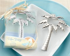 """""""Palm Breeze"""" Chrome Palm Tree Bottle Opener at Elegant Gift Gallery. We're your number one source for beach wedding favors and bottle opener favors! Wedding Favors And Gifts, Wedding Favours Bottles, Summer Wedding Favors, Bridal Shower Favors, Wedding Ideas, Wedding Beach, Nautical Wedding, Beach Weddings, Summer Weddings"""