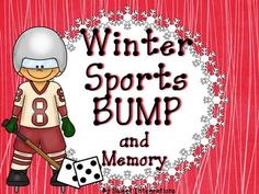 "The big winter sporting event is coming soon in February. ""BUMP"" with a Winter Sports Games theme. I've included two different Bump addition games with theme markers. I've also added blank cards so you can add your own numbers.This product is a sneak peak of my Winter Sports Unit for elementary."