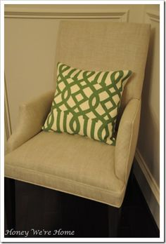 living room pillows..and chair if I could find matching chairs like this for the living room!!