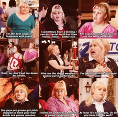 Pitch Perfect favorite quotes #fatamy.  Of u have watched the movie as many times as me u can probably know exactly how she says these