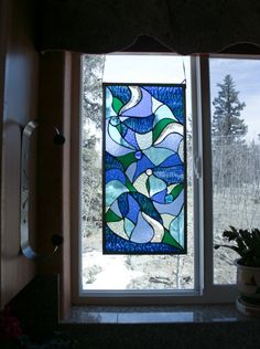 Stained glass from etsy. So love this piece! $225.00