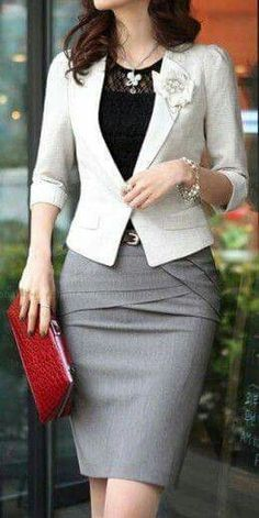 Women Plus Size Formal Pencil Skirt Ladies Black Beige Blue Gray Bodycon Skirts Business Work Jupe Femme Size S Color Beige Business Fashion, Business Outfits, Office Outfits, Business Attire, Office Wear, Casual Office, Work Outfits, Outfit Work, Smart Office