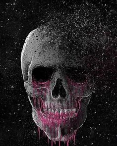 Purple & Grey Skull hochgeladen von amyjames auf We Heart It - Cool Skulls - News Skull Design, Design Art, Sugar Skull Artwork, Badass Skulls, Skull Pictures, Dark Art Drawings, Skull Island, Skull Painting, Skulls And Roses