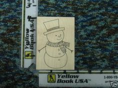 Big Snowman rubber stamp - new #HeroArts #WoodMountedRubber