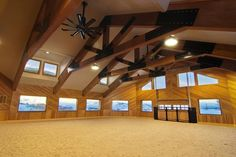 Riding Arena with big fans for indoor