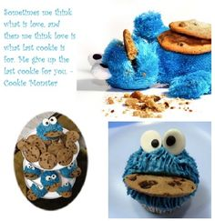 Cookie monster cupcake!!!