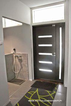 Aluminium Door Design, Aluminium Doors, Interior Decorating, Interior Design, Mudroom, Laundry Room, Building A House, Entrance, Sweet Home
