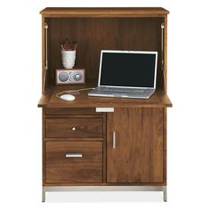 Room & Board - Linear 51h 35w Office Armoire One-File Drawer/One-Door with Steel Base