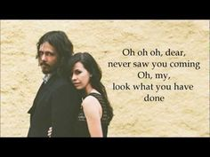 """Lyrics to """"Tip of My Tongue"""" by The Civil Wars.    Lyrics:    You're a red string tied to my finger   A little love letter I carry with me   You're sunlight   Smoke rings and cigarettes   Outlines and kisses from silverscreens     Oh, dear,   never saw you coming   Oh, my   Look what you have done   You're my favorite..."""