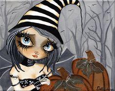 Matilda The Halloween Fairy by Dottie Gleason Gothic Canvas Art Print