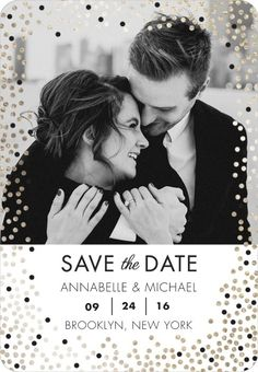 Fanciful Sprinkle - Save the Date Magnets in White or Black | Petite Alma