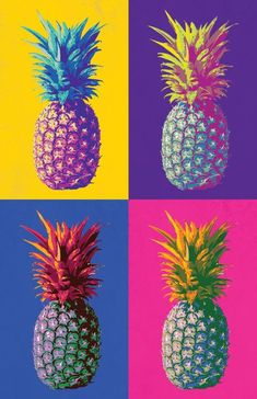 New pop art inspiration projects andy warhol ideas Andy Warhol Pop Art, Pineapple Wallpaper, Pineapple Art, Pineapple Pictures, Pineapple Design, Pop Design, Design Art, Interior Design, Silvester Trip
