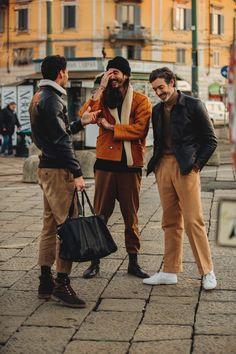 Street style à la Fashion Week homme automne-hiver 2018-2019 de Milan