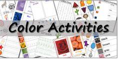 Educational Freebie: Preschool Printable Color Activities