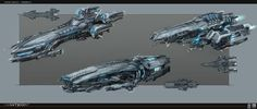 A few concepts for the bigger ships of Galaxy on Fire 3: Manticore. Done a few years ago. Got the permission to show them just now.  Mercenary Carrier detailing was based on a earlier concept done by Marc Nagel.