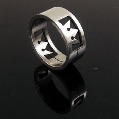 Kingdom Hearts Anime Crown Stainless Steel Ring
