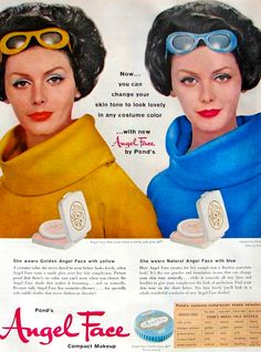Pond's Angel Face Compact Makeup Ad, 1961