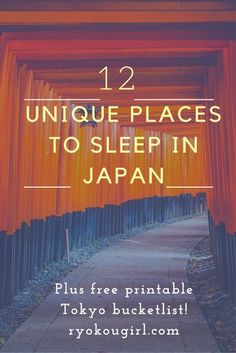 Unique places to sleep in Japan