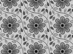 """Seamless Pattern Template """"Passing Alongside"""" by ColourPhreak: floral, flowers, leaves, vines, COLOURlovers, CC-BY-NC-SA, design."""