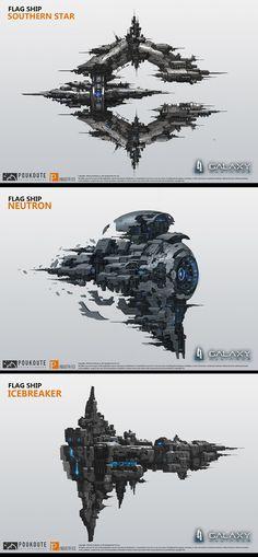 ArtStation - Galaxy Alliance ship design 2, puz lee